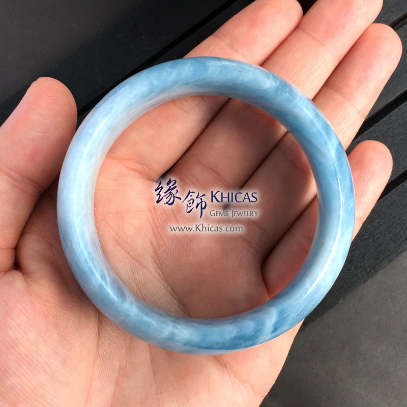 巴西 4A+ 海藍寶闊手鐲(內徑 59mm / 1.55) Aquamarine KH142647 @ Khicas Gems 緣飾