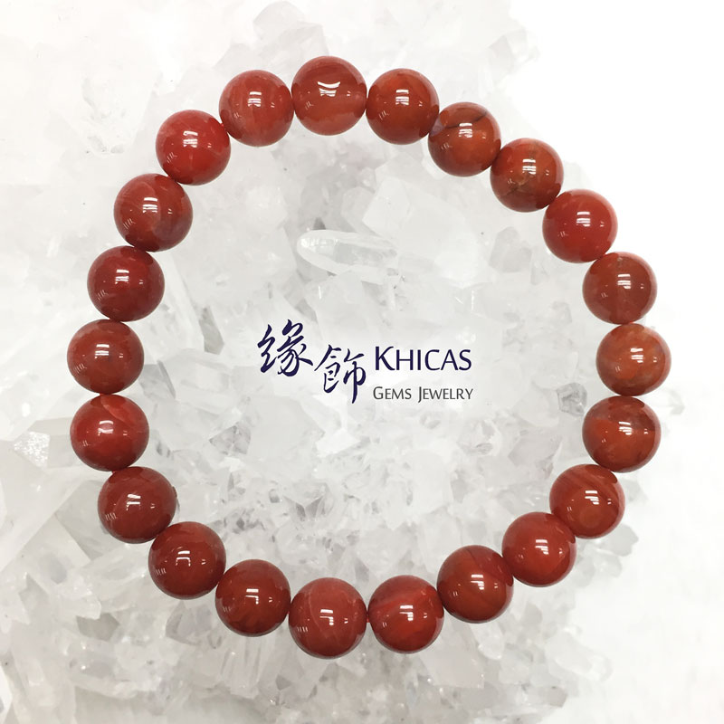 南紅瑪瑙手串 8.5mm Red Agate KH142651 @ Khicas Gems 緣飾