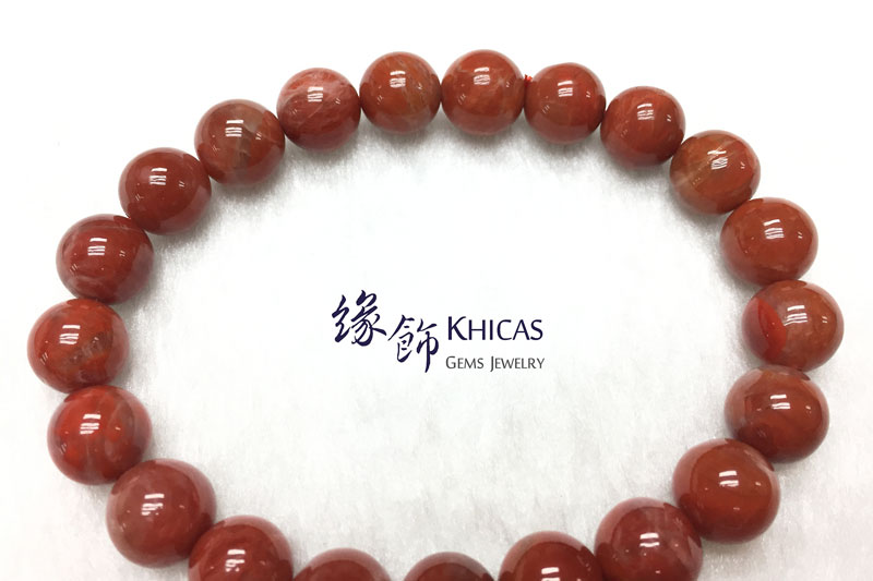 南紅瑪瑙手串 9.5mm Red Agate KH142652 @ Khicas Gems 緣飾