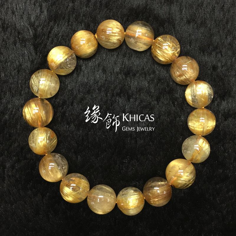巴西 5A+ 貓眼金鈦晶手串 11.5mm Gold Rutilated KH142663 @ Khicas Gems 緣飾