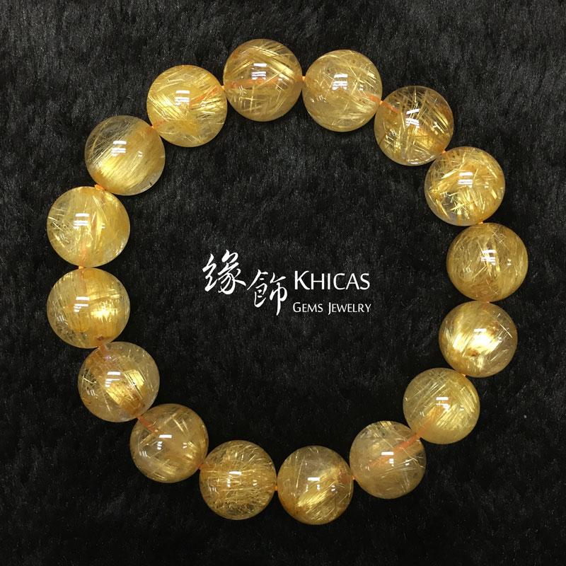 巴西 5A+ 金鈦晶手串 13.5mm Gold Rutilated KH142664 @ Khicas Gems 緣飾