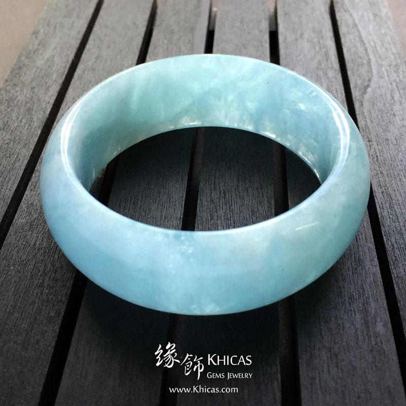 巴西 4A+ 海藍寶闊手鐲(內徑 52mm / 1.4) Aquamarine KH142687 @ Khicas Gems 緣飾