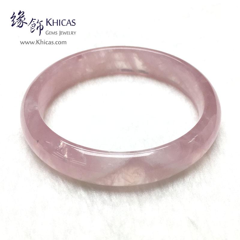 馬達加斯加 4A+ 粉晶手鐲(內徑 ⌀58mm / 1.55) KH142691 @ Khicas Gems 緣飾天然水晶