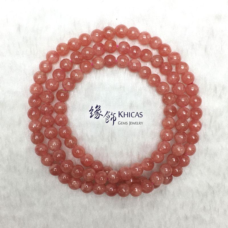 阿根廷 3A+ 紅紋石三圈手串 6mm KH142706 Khicas Gems 緣飾