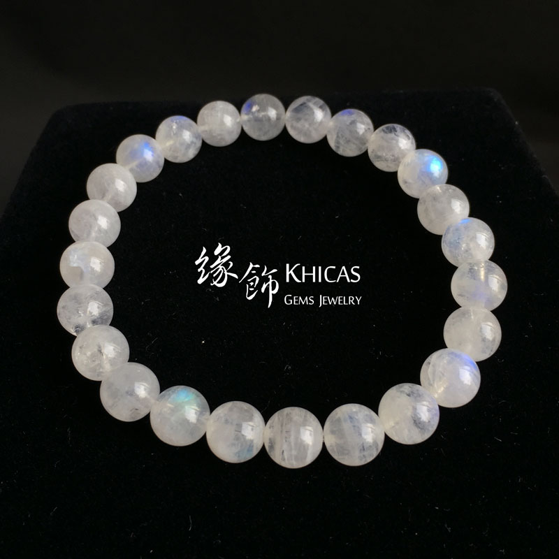 巴西 3A+ 月亮石手串 8mm MoonStone KH142707 Khicas Gems 緣飾