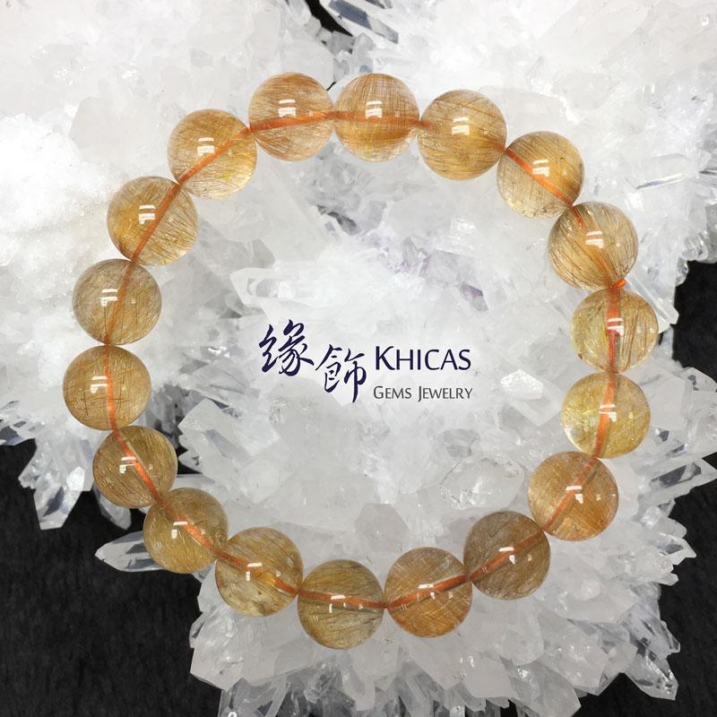 巴西 3A+ 銅髮晶手串 11.5mm KH142733 @ Khicas Gems 緣飾