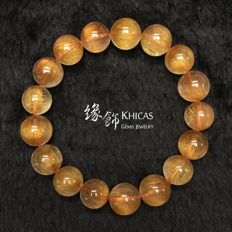 巴西 3A+ 銅髮晶手串 12.5mm KH142734 @ Khicas Gems 緣飾