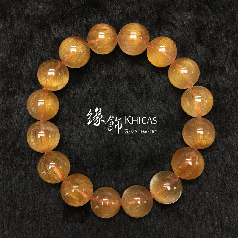 巴西 3A+ 銅髮晶手串 13.5mm KH142735 @ Khicas Gems 緣飾