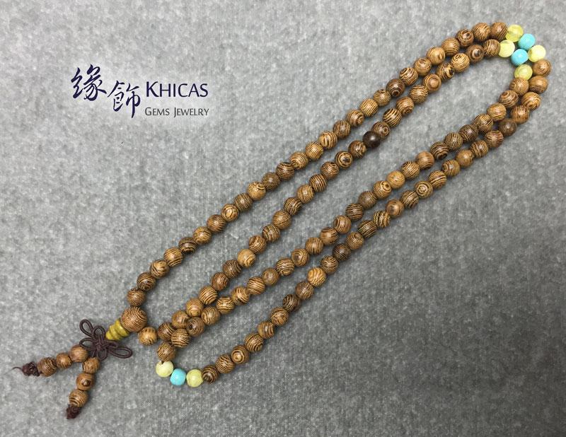 雞翅木 108 念珠手串 6mm KH142745 Khicas Gems 緣飾