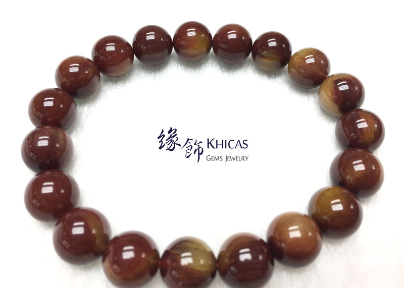巴西 4A+ 紅髮晶手串 10.5mm Red Rutilated Quartz KH142762 @ Khicas Gems 緣飾