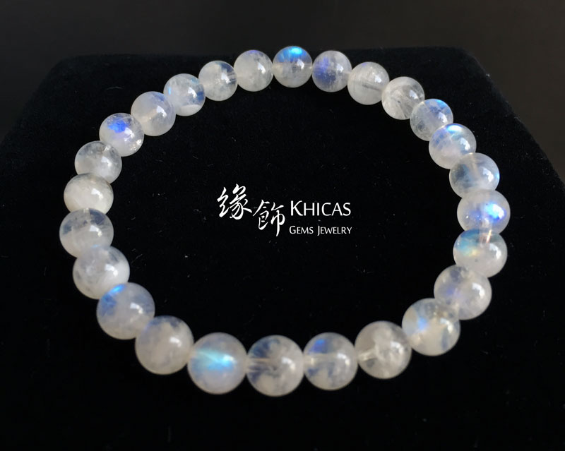 巴西 3A+ 月亮石手串 7mm MoonStone KH142770-2 Khicas Gems 緣飾