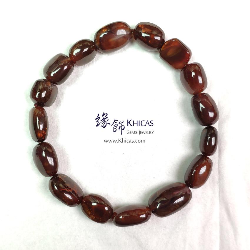 墨西哥 4A+ 火瑪瑙不定形手串 Fire Agate Bracelet KH142843-1 @ Khicas Gems Jewelry 緣飾天然水晶