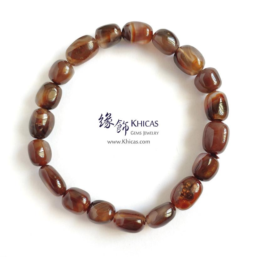 墨西哥 4A+ 火瑪瑙不定形手串 ~8.5mm Fire Agate Bracelet KH142848 @ Khicas Gems Jewelry 緣飾天然水晶