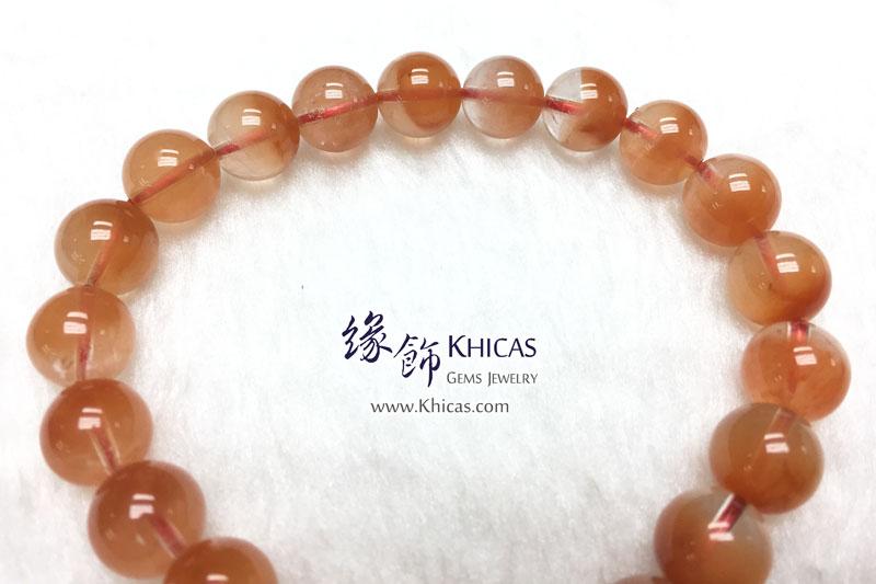 巴西 5A+ 紅兔毛髮晶聚寶盆手串 9.5mm Red Rutilated Quartz KH142876 @ Khicas Gems 緣飾