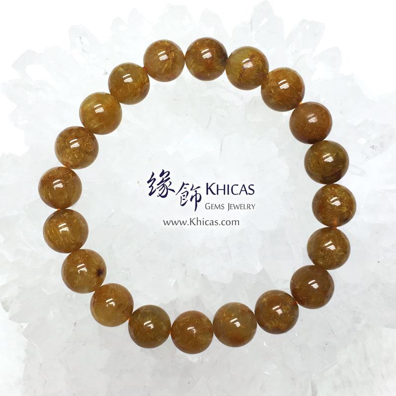 巴西 5A+ 開花金髮晶手串 9.8mm Gold Rutilated KH142878 @ Khicas Gems 緣飾