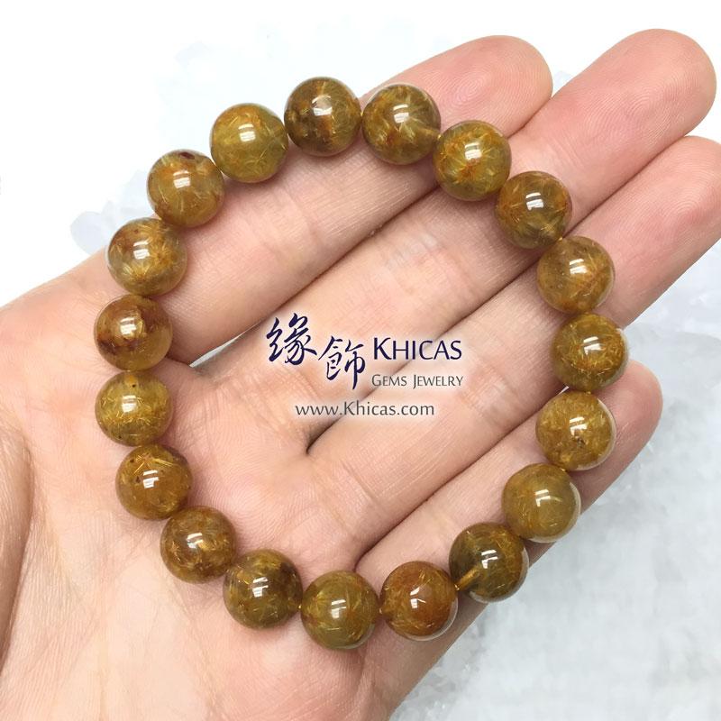 巴西 5A+ 開花金髮晶手串 10.3mm Gold Rutilated KH142879 @ Khicas Gems 緣飾