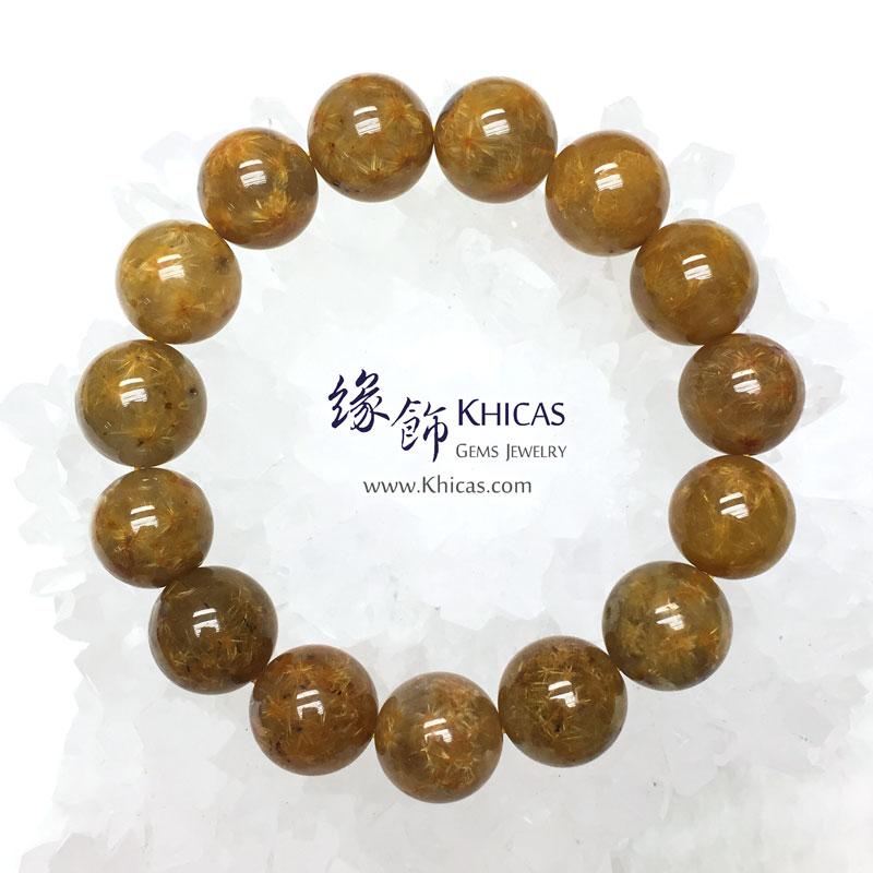 巴西 5A+ 開花金髮晶手串 14.5mm Gold Rutilated KH142880 @ Khicas Gems 緣飾