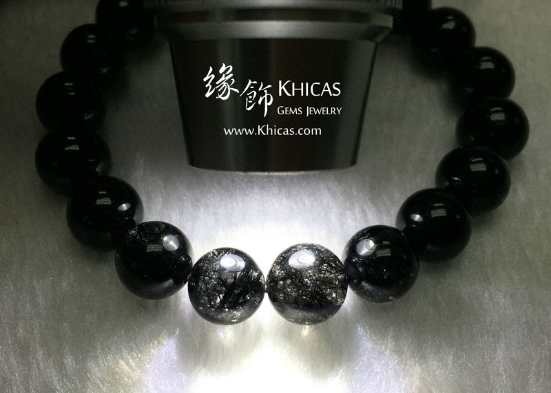 巴西 5A+ 黑髮晶手串 10mm Black Rutilated Quartz KH142888 @ Khicas Gems 緣飾