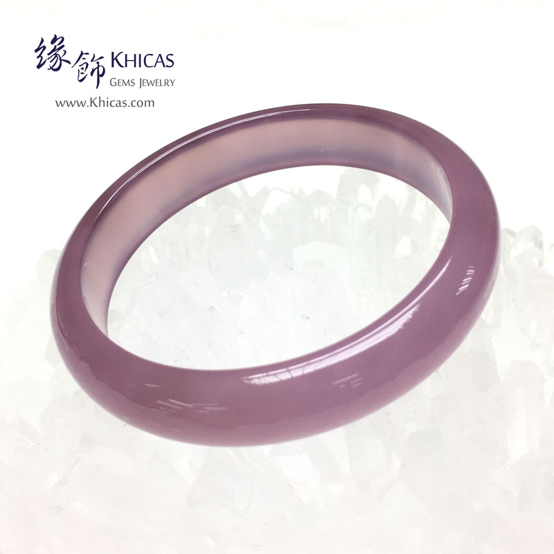 天然紫玉髓手鐲(內徑 ⌀52mm / 1.4) Chalcedony Bangle KH142892 @ Khicas Gems 緣飾
