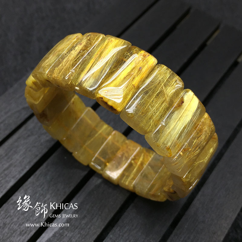 巴西 5A+ 金鈦晶手排 20x9.5x6mm Golden Rutilated Quartz KH142945 @ Khicas Gems 緣飾天然水晶