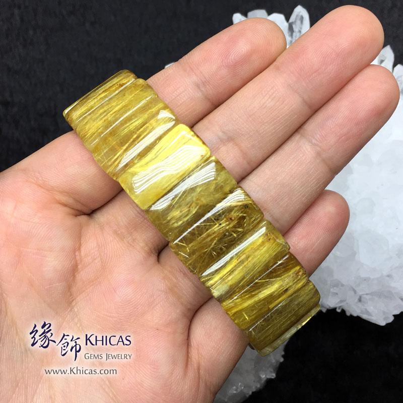巴西 5A+ 金鈦晶手排 20x9.5x6mm Golden Rutilated Quartz KH142945 @ Khicas Gems 緣飾天然水晶