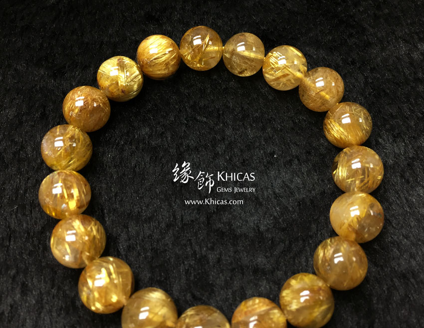 巴西 5A+ 金鈦晶手串 10.5mm Gold Rutilated KH142946 @ Khicas Gems 緣飾