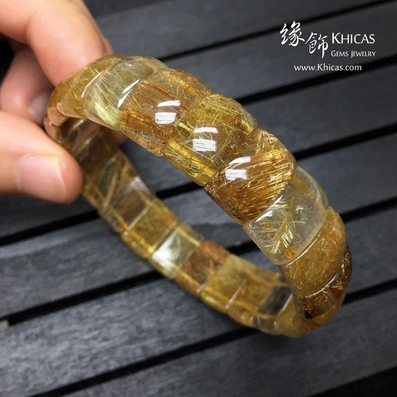 巴西 4A+ 金髮晶手排 14x9x6mm Golden Rutilated Quartz KH142951 @ Khicas Gems 緣飾天然水晶