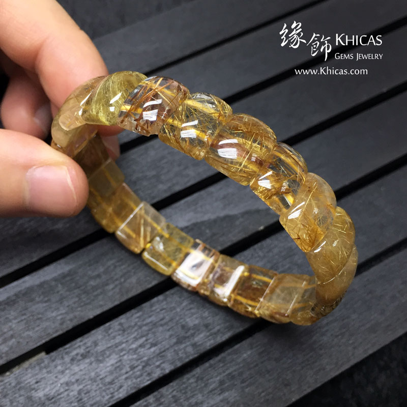 巴西 4A+ 金髮晶手排 12x8x5mm Golden Rutilated Quartz KH142953 @ Khicas Gems 緣飾天然水晶