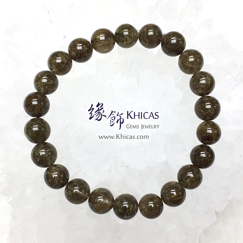 巴西 4A+ 銀鈦髮晶手串 8.5mm Stibnite Rutilated Quartz KH142955 Khicas Gems 緣飾