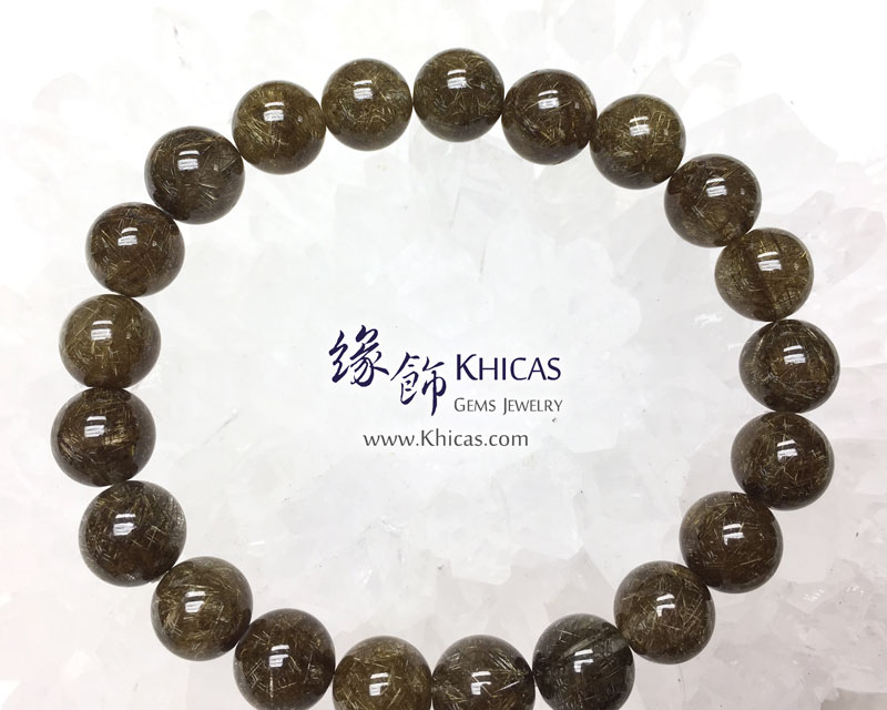 巴西 4A+ 銀鈦髮晶手串 9mm Stibnite Rutilated Quartz KH142956 Khicas Gems 緣飾