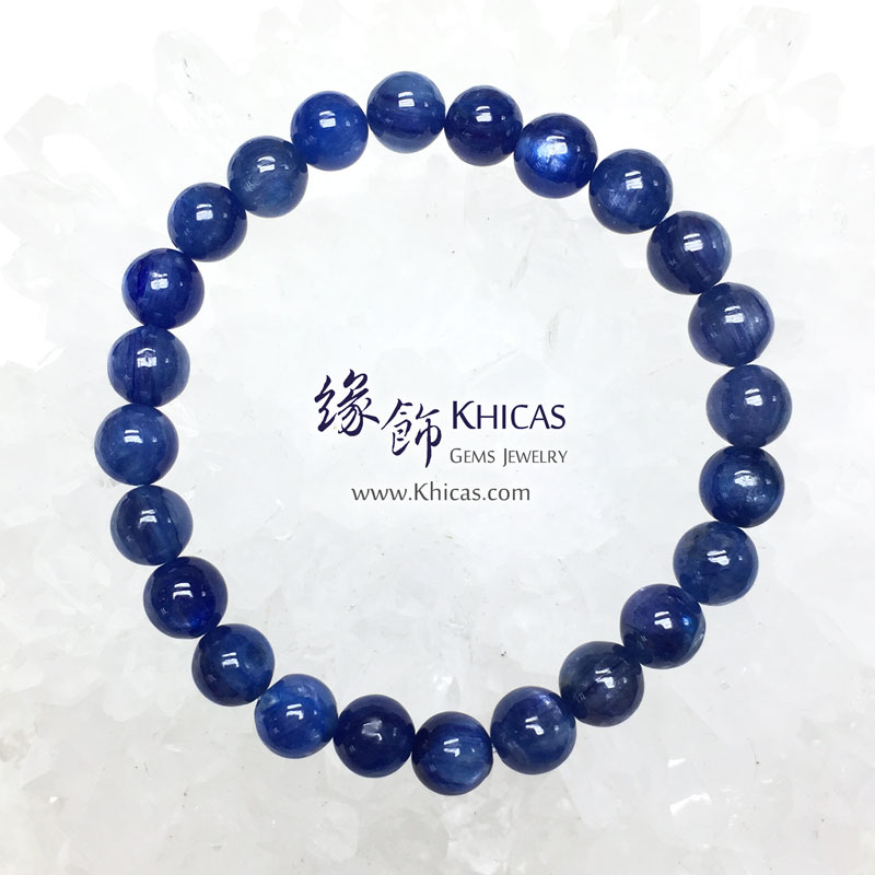 美國 4A+ 藍晶石手串 7mm Kyanite KH142959 @ Khicas Gems 緣飾