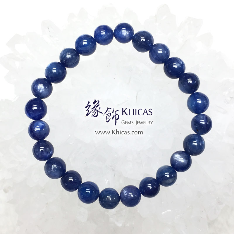 美國 4A+ 藍晶石手串 7.7mm Kyanite KH142960 @ Khicas Gems 緣飾