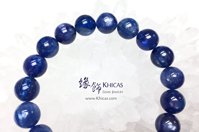 美國 4A+ 藍晶石手串 10.5mm Kyanite KH142961 @ Khicas Gems 緣飾