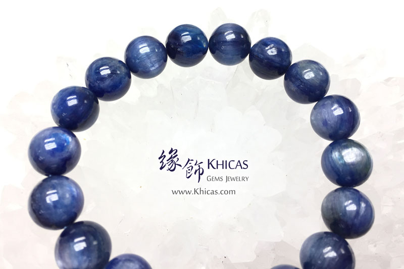 美國 4A+ 藍晶石手串 11.2mm Kyanite KH142962 @ Khicas Gems 緣飾