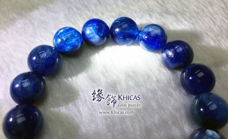 美國 4A+ 藍晶石手串 12.8mm Kyanite KH142963 @ Khicas Gems 緣飾