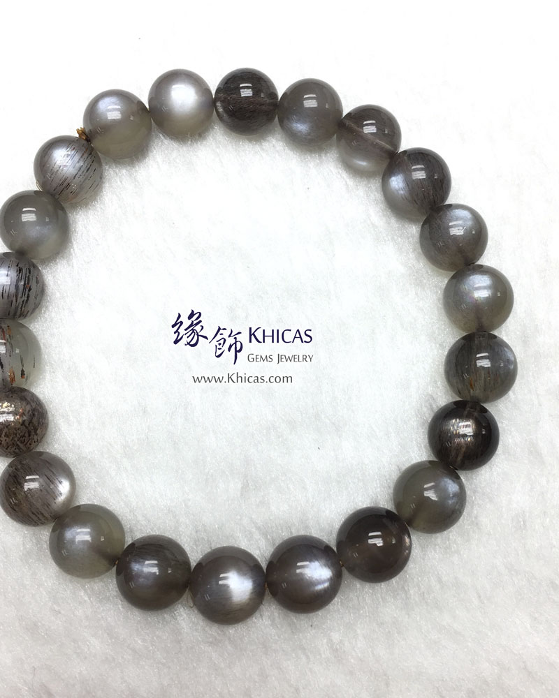 巴西 4A+ 黑太陽石手串 8.5mm Black SunStone KH142970 @ Khicas Gems 緣飾