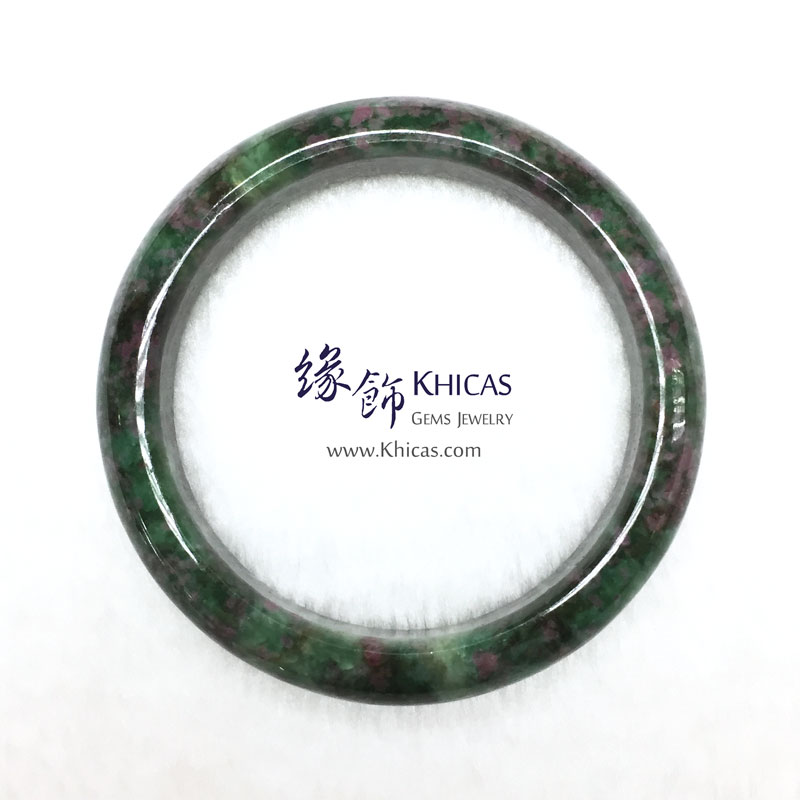 緬甸紅綠寶石手鐲(內徑 ⌀60mm / 1.6) Anyolite Ruby Zoisite KH142971-1 @ Khicas Gems 緣飾