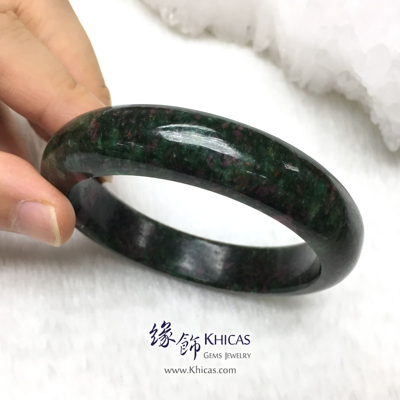 緬甸紅綠寶石手鐲(內徑 ⌀60mm / 1.6) Anyolite Ruby Zoisite KH142973 @ Khicas Gems 緣飾