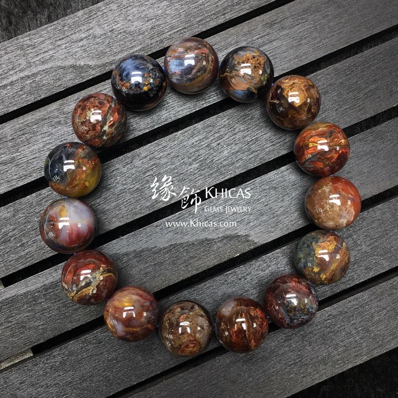 納米比亞 5A+ 彩色彼得石手串 14.5mm Pietersite KH142974 @ Khicas Gems 緣飾