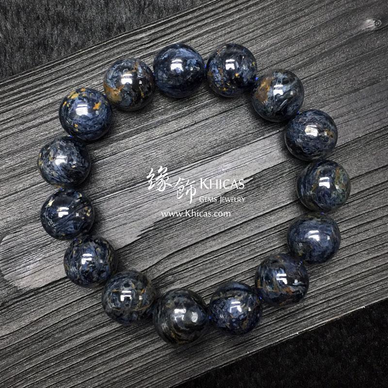 納米比亞 5A+ 藍色彼得石手串 14mm Pietersite KH142975 @ Khicas Gems 緣飾
