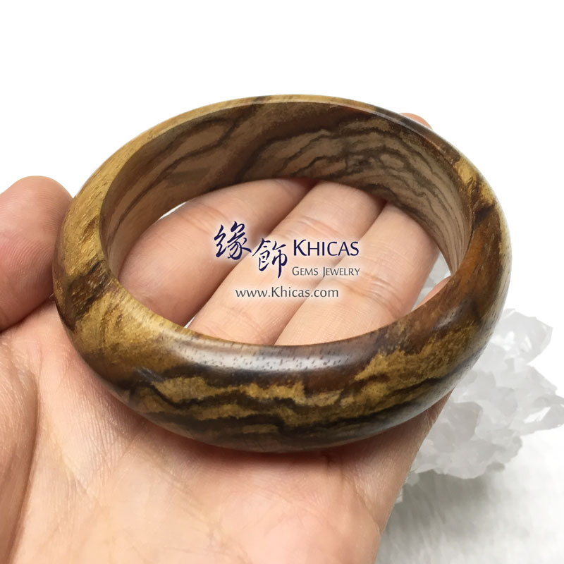 馬來西亞沉香木手鐲(內徑 ⌀64mm / 1.7) Malaysian Agilawood Bangle KH143004 @ Khicas Gems 緣飾