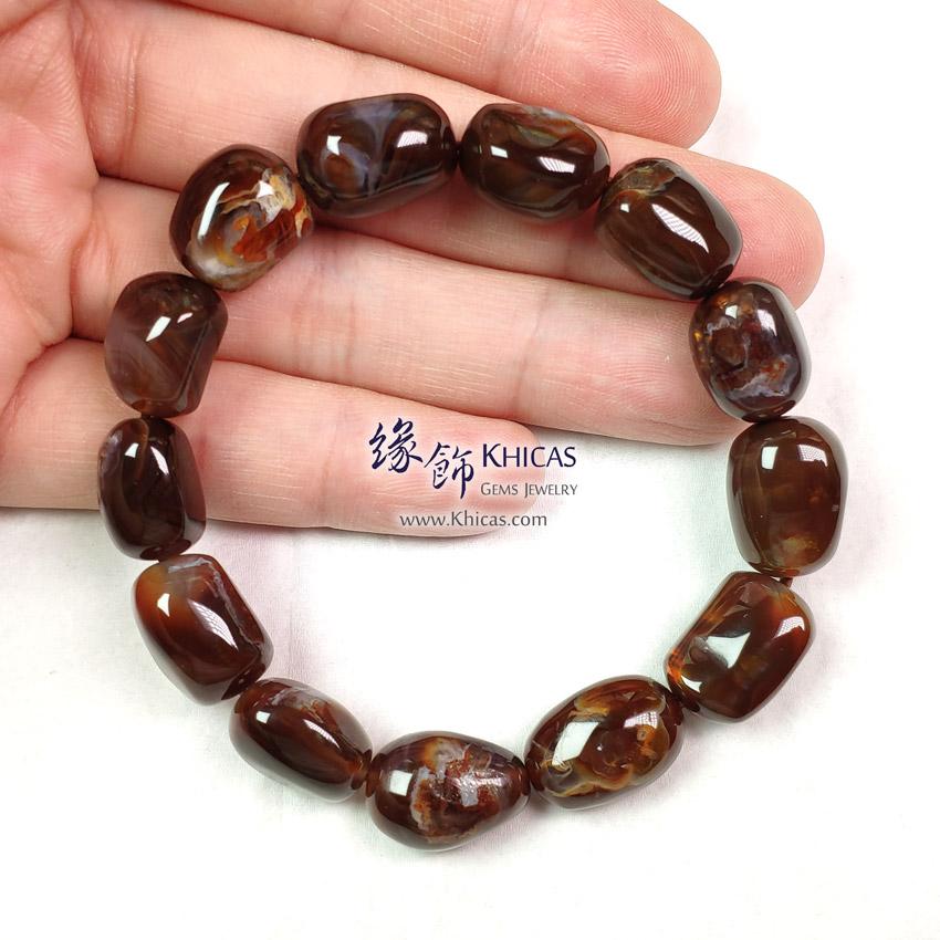 墨西哥 5A+ 火瑪瑙不定形手串 ~11.5mm Fire Agate Bracelet KH143020 @ Khicas Gems Jewelry 緣飾天然水晶