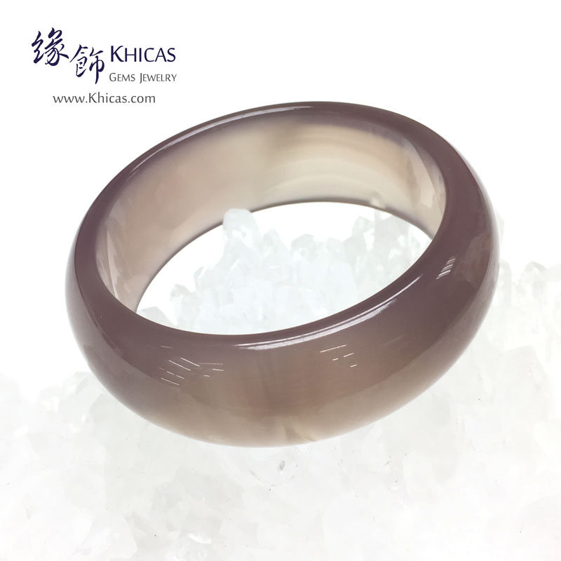 天然紫玉髓手鐲(內徑 ⌀56mm / 1.5) Chalcedony Bangle KH143022 @ Khicas Gems 緣飾