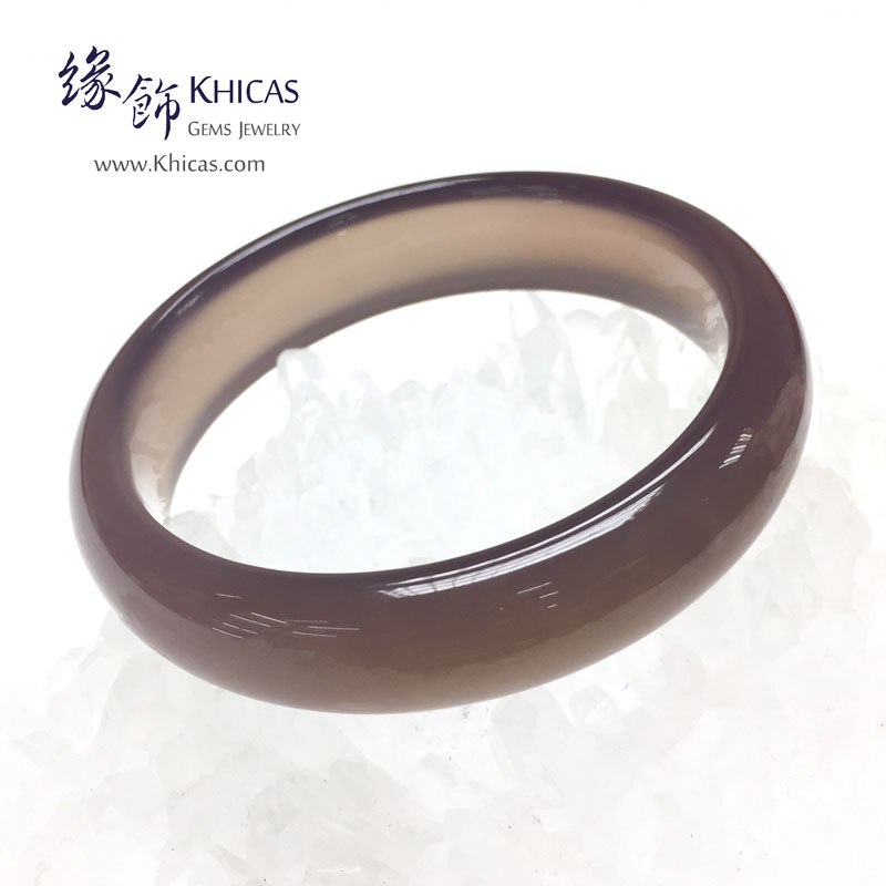 天然紫玉髓手鐲(內徑 ⌀58mm / 1.55) Chalcedony Bangle KH143023 @ Khicas Gems 緣飾