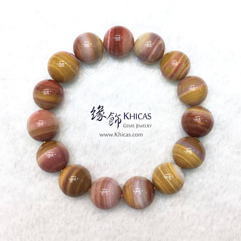 緬甸 4A+ 木化玉 / 玉化木化石手串 14.5mm+/- KH143035 @ Khicas Gems 緣飾天然水晶