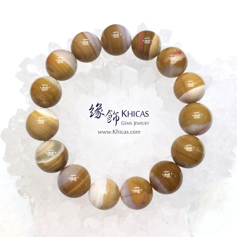 緬甸 4A+ 木化玉 / 玉化木化石手串 14.5mm+/- KH143036 @ Khicas Gems 緣飾天然水晶