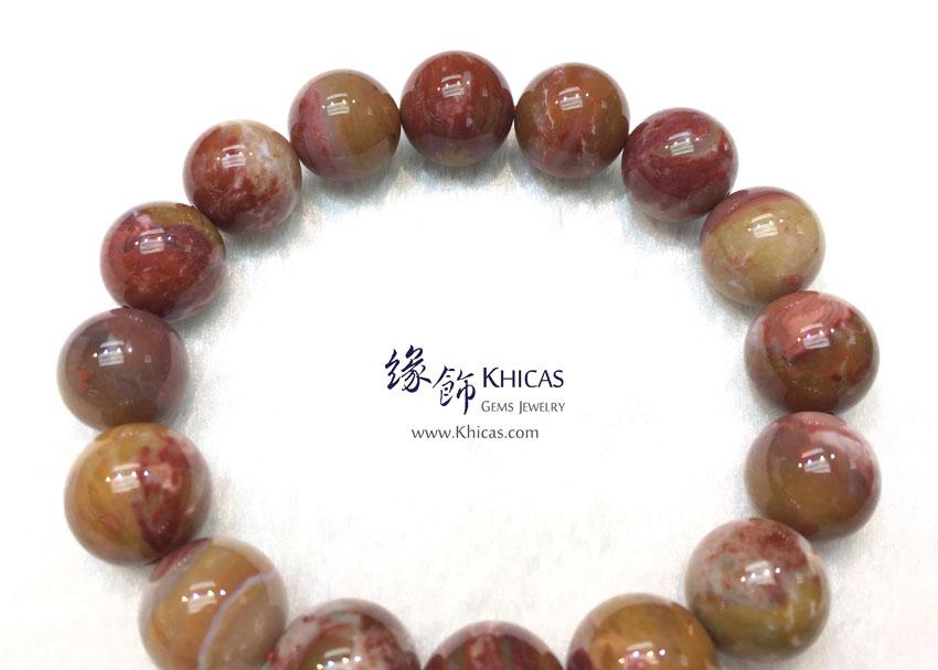 緬甸 5A+ 木化玉 / 玉化木化石手串 13mm+/- KH143037 @ Khicas Gems 緣飾天然水晶