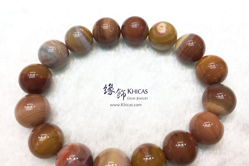 緬甸 5A+ 木化玉 / 玉化木化石手串 13mm+/- KH143038 @ Khicas Gems 緣飾天然水晶