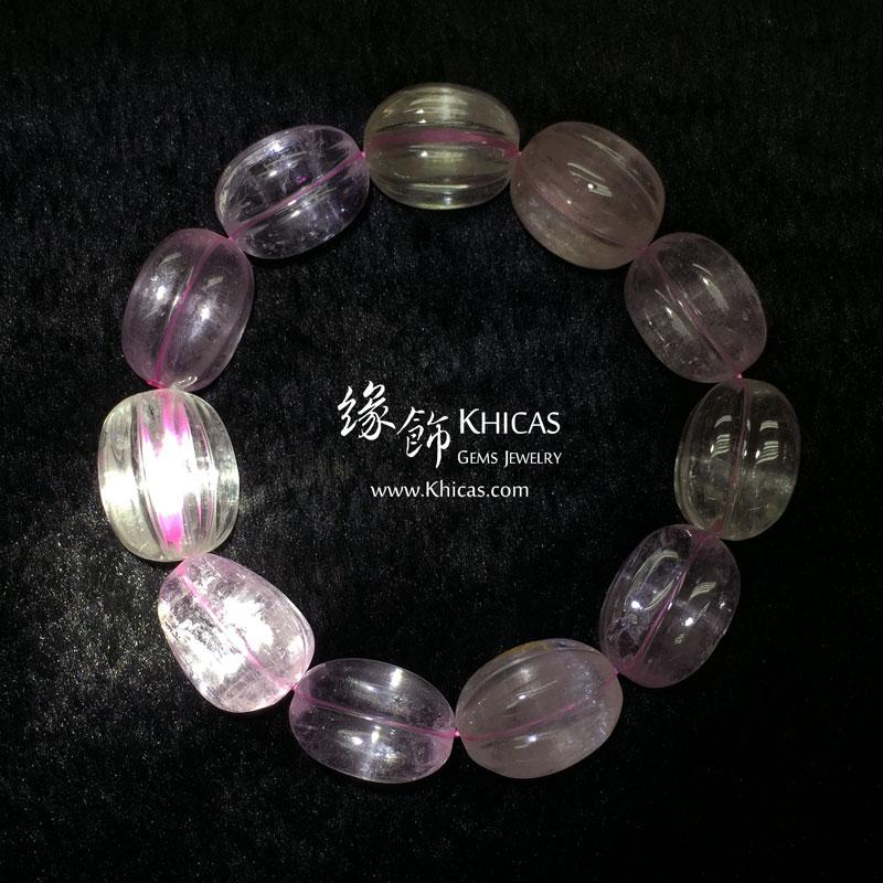 巴西 4A+ 紫鋰輝楊桃形手串 ~12mm Kunzite KH143040 Khicas Gems 緣飾