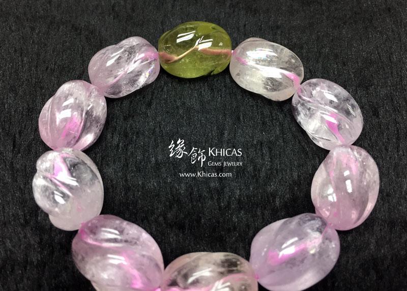 巴西 4A+ 紫鋰輝花生形手串 ~15mm Kunzite KH143041 Khicas Gems 緣飾